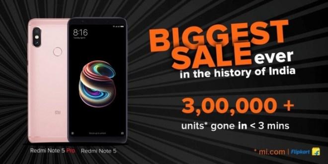 شاومي باعت 30 ألف هاتف Redmi Note 5 Pro في كل ثانية