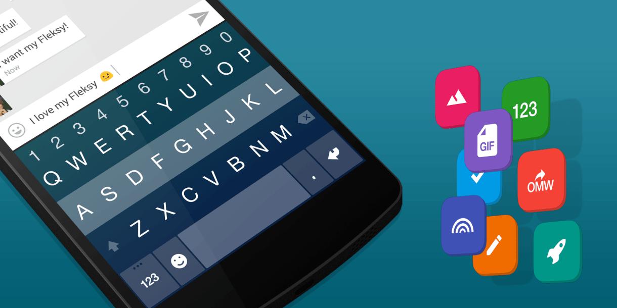 لوحة مفاتيحFleksy تدعم الآن مزامنة الاعدادات وكل شيء في أندرويد