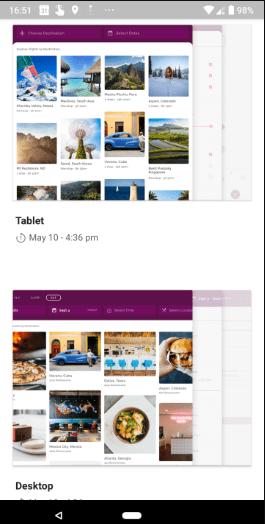 تطبيقMaterial Gallery من قوقللمساعدة المصممين على تنظيم مشاريعهم
