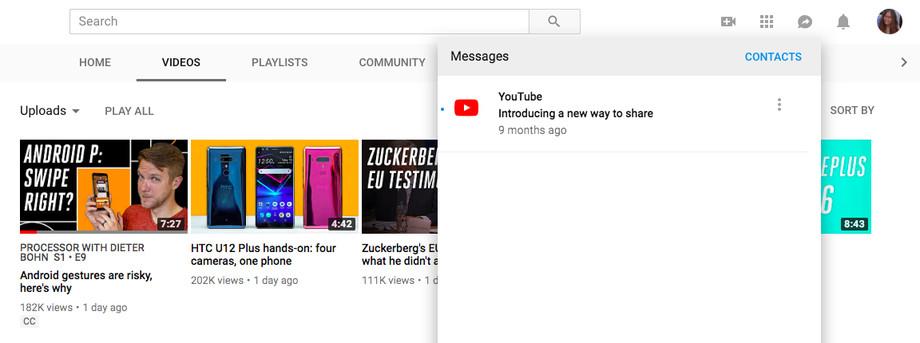 يوتيوب تجلب خاصية المراسلة للويب بعد أن كانت حصراً للهواتف