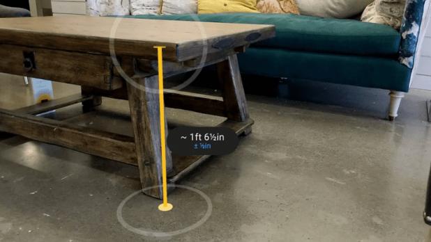 تطبيقMeasure من قوقل يستخدم الواقع المعزز لقياس الأشياء