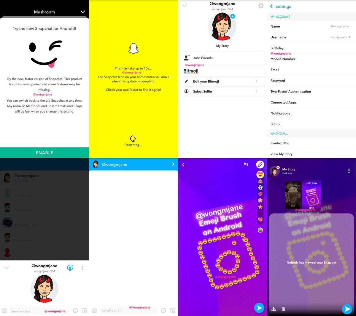 سناب شات تعيد تصميم واجهة المستخدم لتبدو أكثر سلاسة