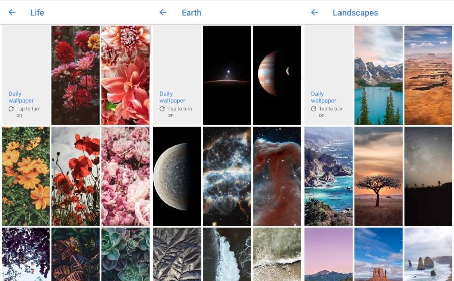 قوقل تُحدّث تطبيقهاWallpapers مع الكثير من الخلفيات الجديدة الرائعة