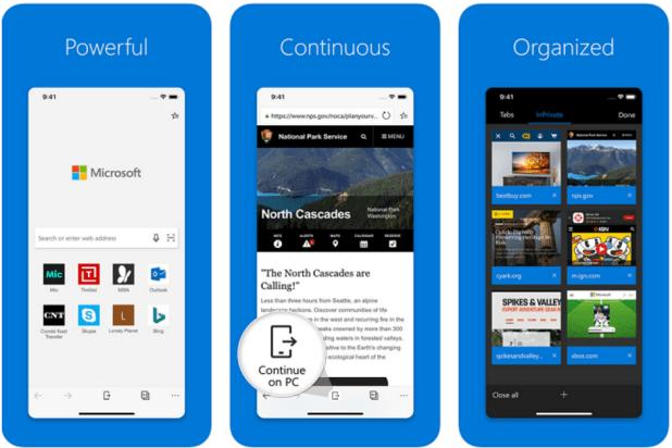 متصفّح إيدج على iOS يدعم الآن إصدار سطح المكتب