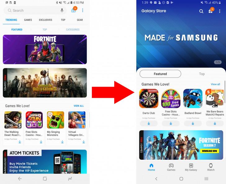 تطبيقGalaxy Apps يدعم الآن تصميم OneUI ويُغيّر اسمه إلى Galaxy Store
