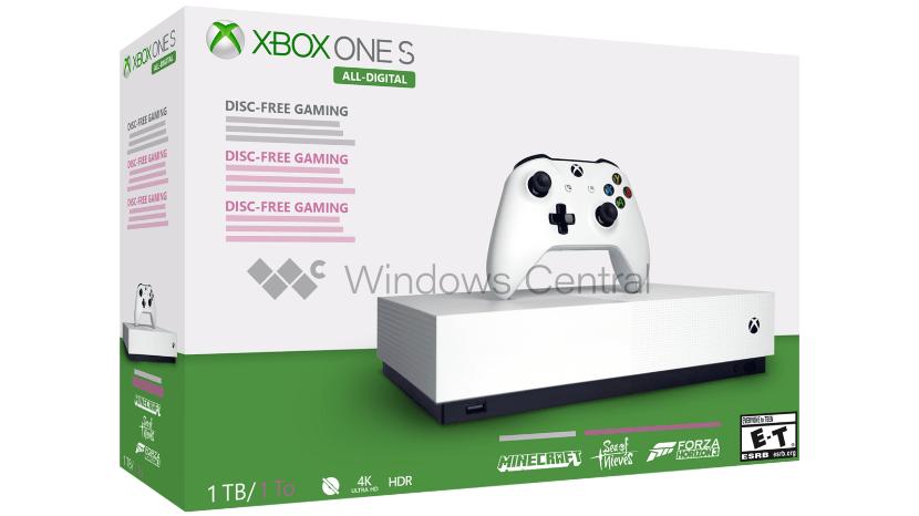 تقرير: مايكروسوفت ستطلق Xbox One S All-Digital في السابع من مايو المقبل