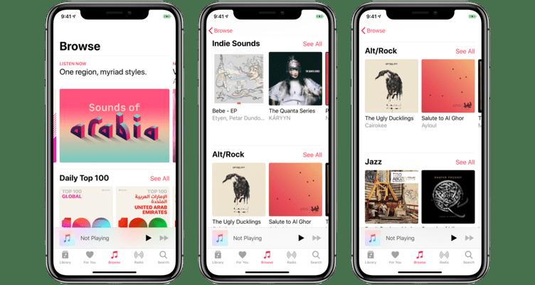 آبل تعزز تواجد خدمتها Apple Music في الشرق الأوسط لتصل 50 مليون أغنية