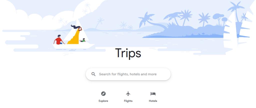 قوقل تجمع خدماتها الخاصة بالسفر في موقع واحد باسم Trips