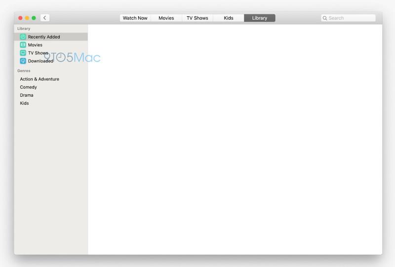 تسريب يُظهر الصور الأولى لتطبيقي الموسيقى والمحتوى المرئي الجديدين من آبل لنظام ماك