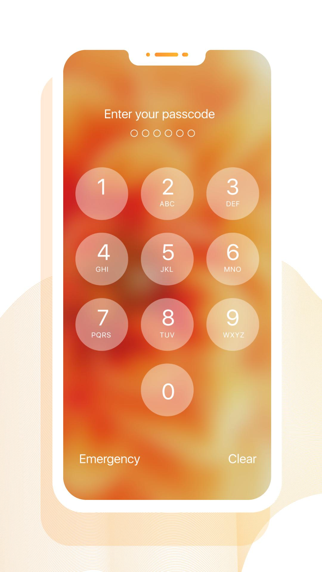 IOS12 Lock Screen