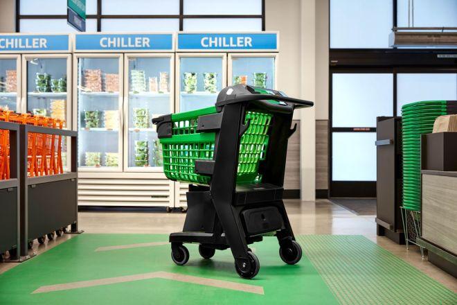 أمازون تطلق عربة التسوق الذكية Dash Cart في محال البقالة نهاية العام