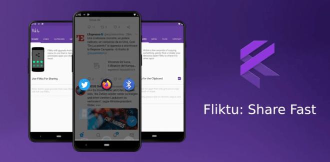 يعمل تطبيق Fliktu على تحسين قائمة مشاركة أندرويد الافتراضية