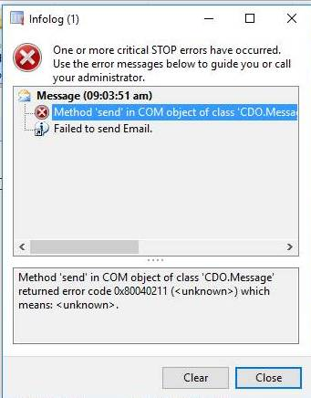类'CDO.Message'的COM对象中的方法'send'返回错误,并且学习了Dynamics Ax 2012 R3。/ Method 'send' in COM object of class 'CDO.Message' returned error  and lesson learned Dynamics Ax 2012 R3.