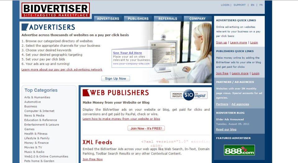 best ad networks bidvertiser
