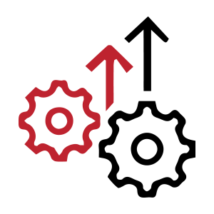 Gears with arrows icon