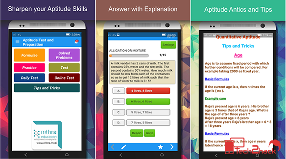 android apps for competitive exams-Aptitude