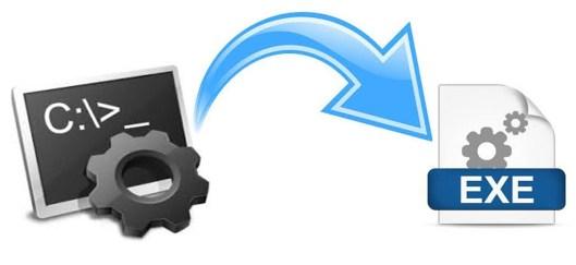 create notepad virus-bat to exe