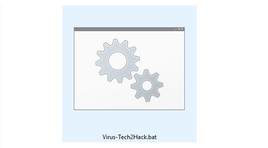 create notepad virus- batch file