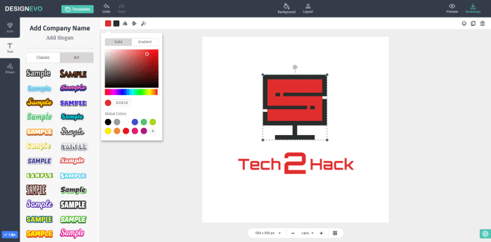 looking for best free logo design tool try designevo tech2hack