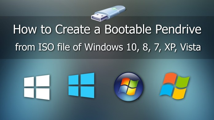 How to easily create bootable Pendrive from ISO to install Windows 10, 8, or 7.