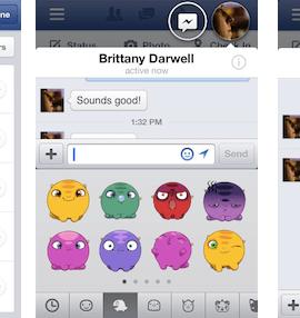 Facebook stickers desktop chat