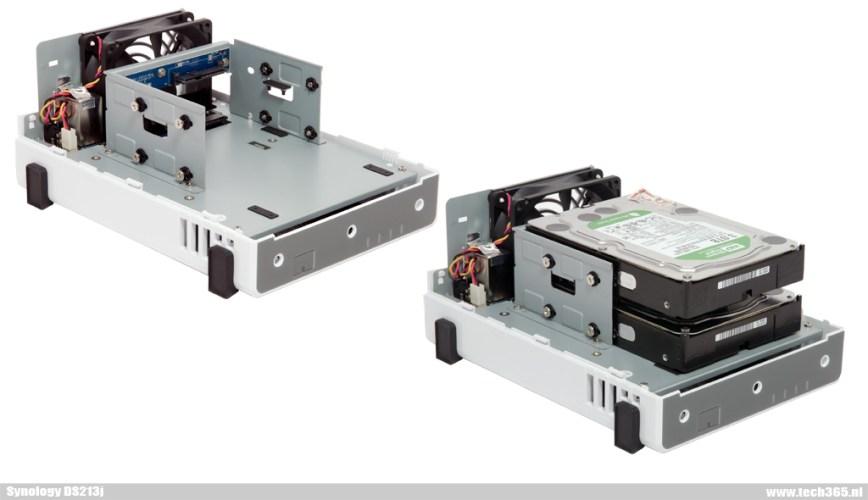 Synology DS213 internal - Montage harddisks