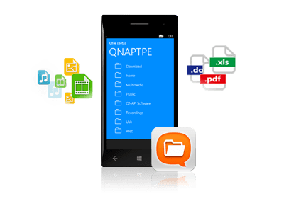 Qfile voor Windows Phone 8 QNAP