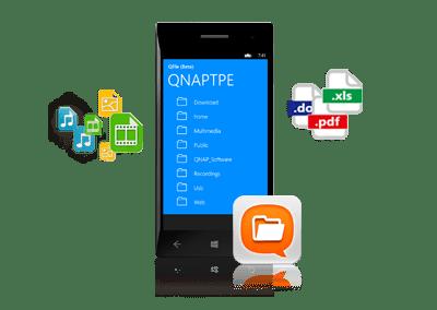 Qfile voor Windows Phone 8 QNAP