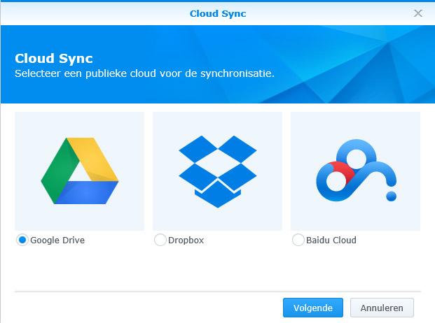Synology Cloud Sync 02