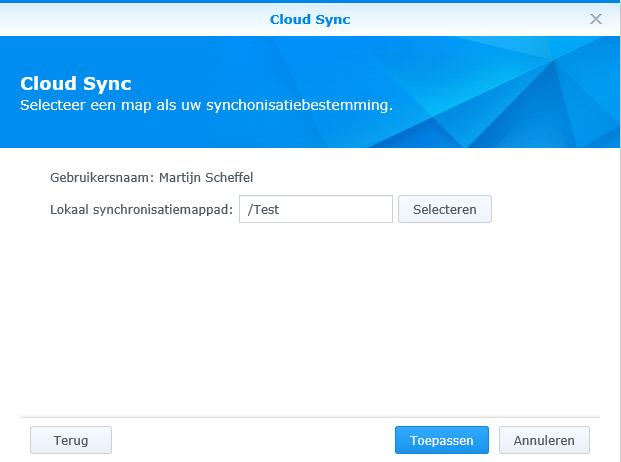 Synology Cloud Sync 04