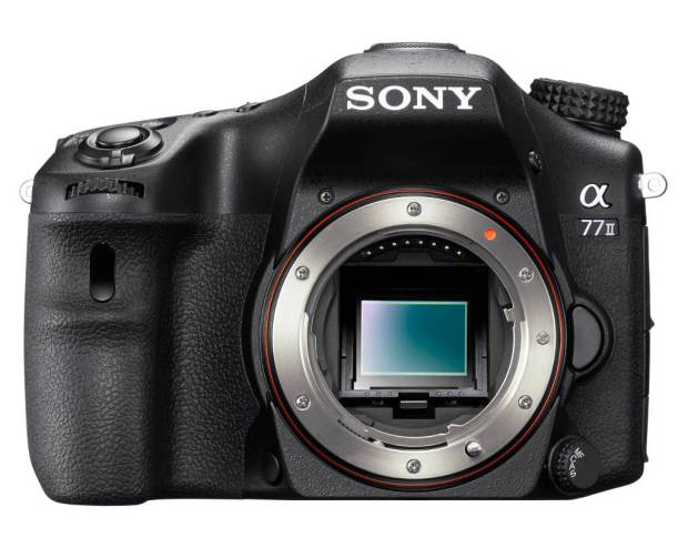 Sony A77 II front