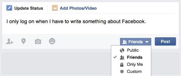 Facebook zichtbaarheid berichten