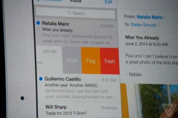 Apple iOS 8 Mail