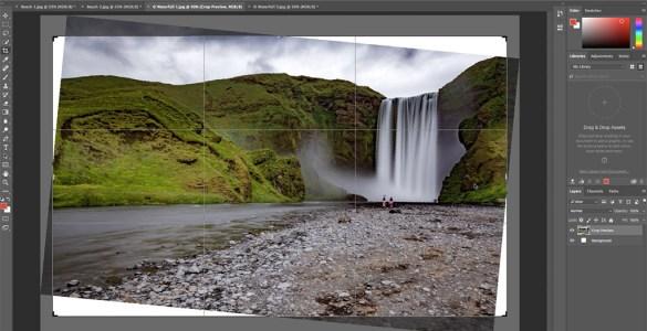 content aware crop photoshop