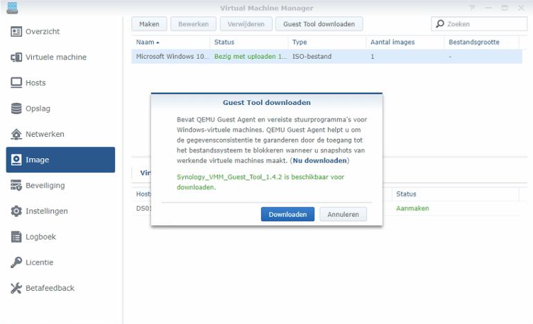 Synology Virtual Machine Manager installatie 16