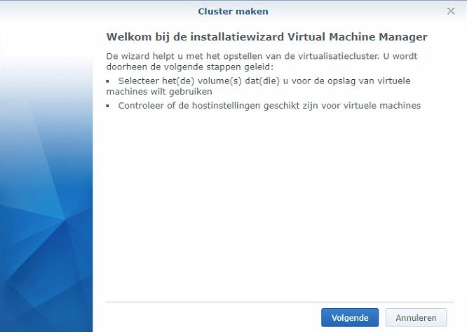 Synology Virtual Machine Manager installatie 02