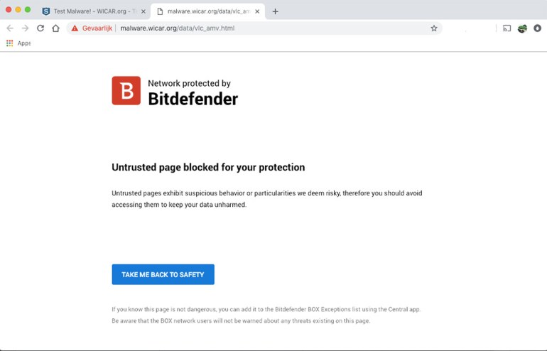 BitDefenderBox2 Blokkade
