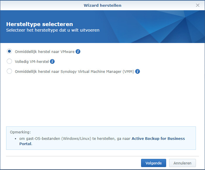Synology Active Backup Restore 02