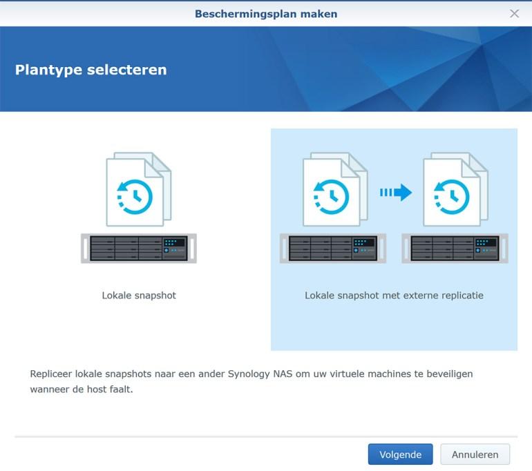 Synology VMM Snapshot replication BeschermPlan01