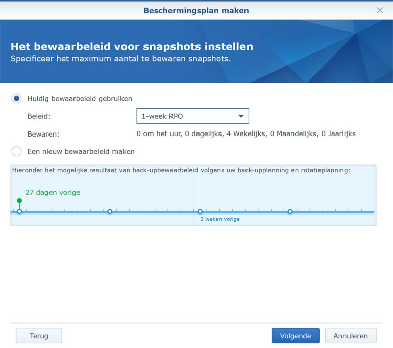Synology VMM Snapshot replication BeschermPlan05