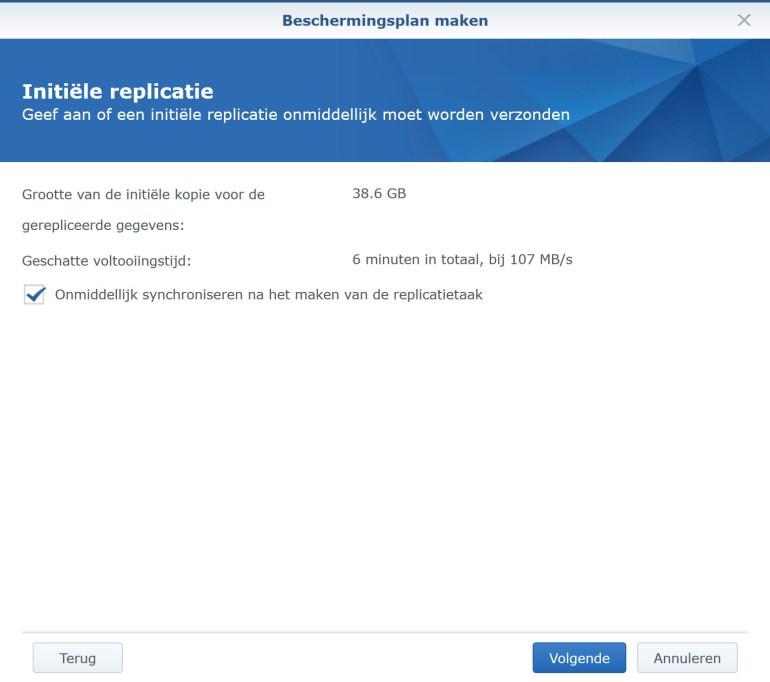 Synology VMM Snapshot replication BeschermPlan07