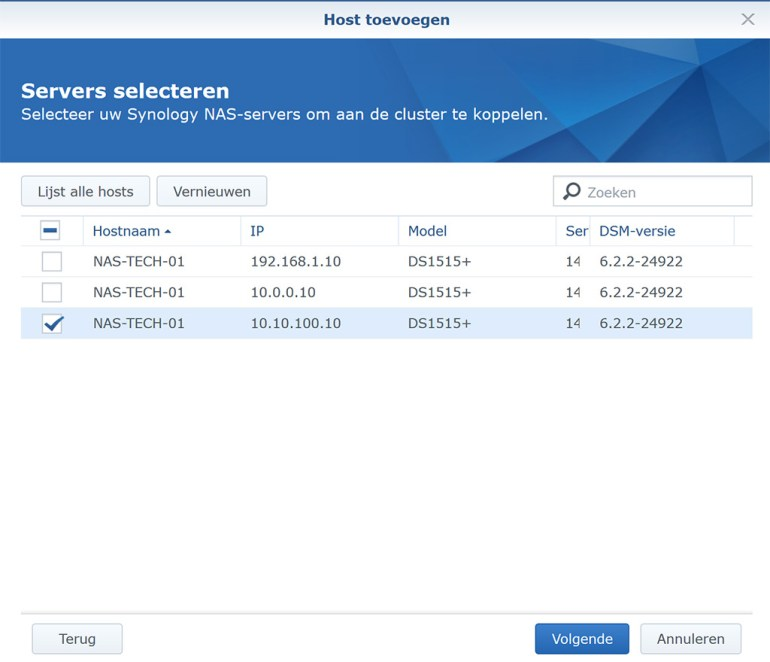 Synology VMM Snapshot replication Cluster 04