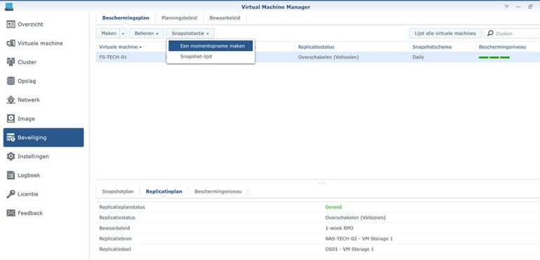 Synology VMM Snapshot replication Snapshot01