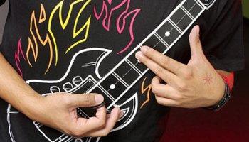 thinkgeeks electronic rock guitar shirt