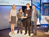 Open Bionics accepting their Award