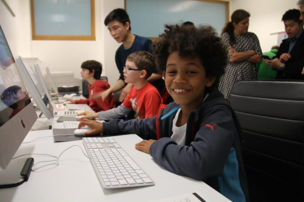 Group of children at South London Raspberry Pi