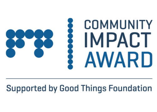 Community Impact Award supported by Good Things Foundation logo