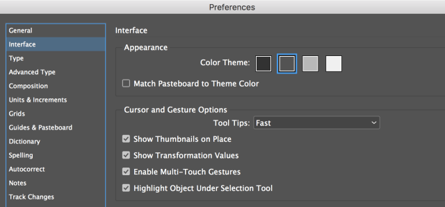 InDesign Tip: Interface Color Theme Option  Technology for