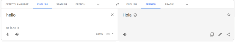 the google translate