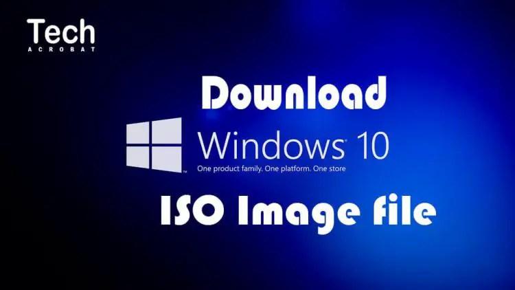 window 10 download iso image